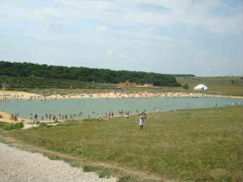 Пляж в парке Кудыкина Гора