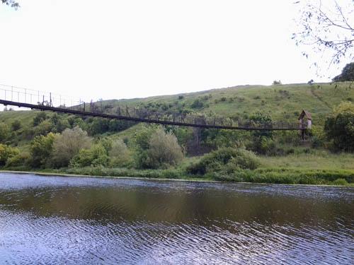 Весь мост с берега реки Дон