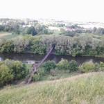 Висячий мост в селе Волотово