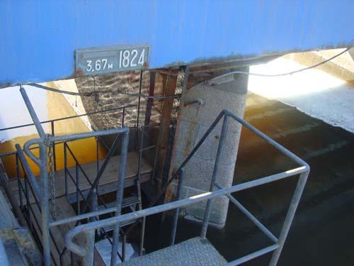 Высота наводнения в 1824 году в городе Кронштадт