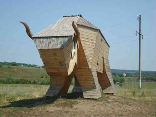 Деревянный бык