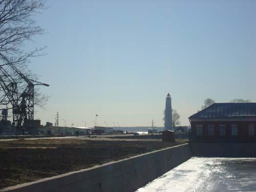 Створный маяк в городе Кронштадт