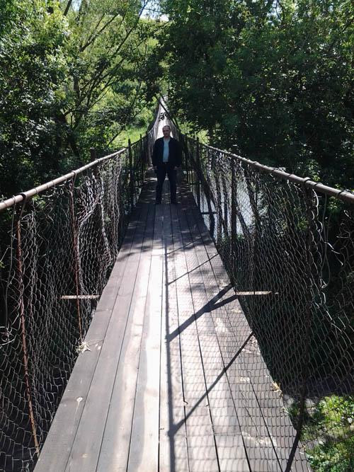 Я на висячем мосту