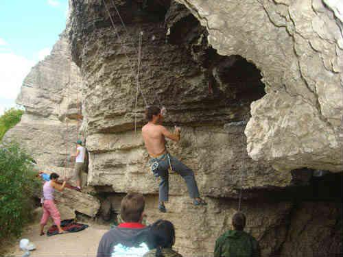 Воргольские скалы альпинисты