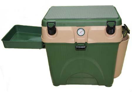 Рыболовный зимний ящик зеленый