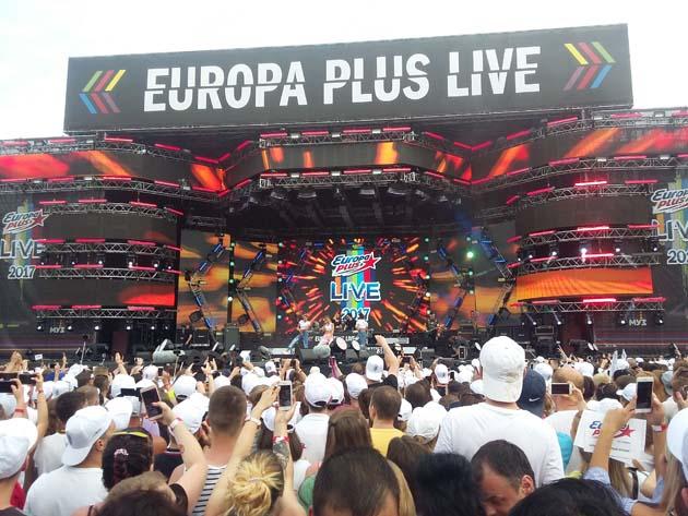 Сцена Europa Plus LIVE 2017