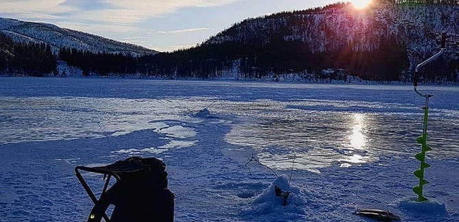 Ловля зимой на поливах