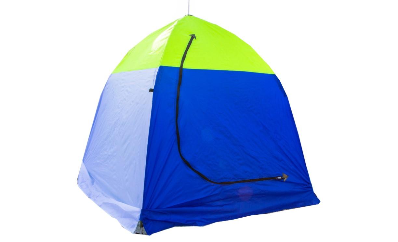 Палатка зимняя зелено-синяя