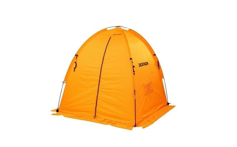 Палатка оранжевая зимняя