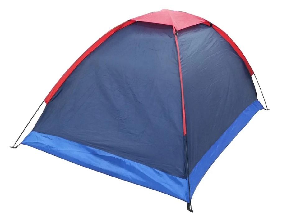 Зимняя синяя палатка